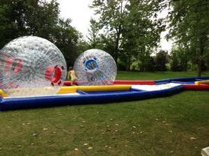 Human Hamster Zorb Ball Racetrack with (2) Zorb Balls - 4 Hours STAFFED