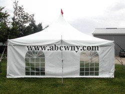 White Sidewalls with cathedral window (per foot)(20',30' or 40')